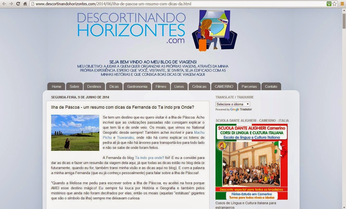 Blog Descortinando Horizontes