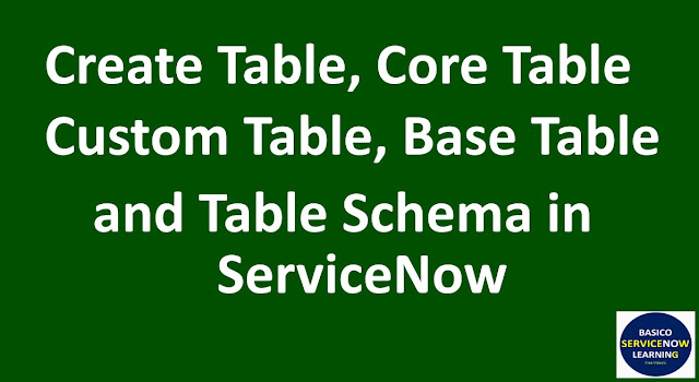 ServiceNow Tutorial,Create Table in ServiceNow,servicenow tables,servicenow training videos