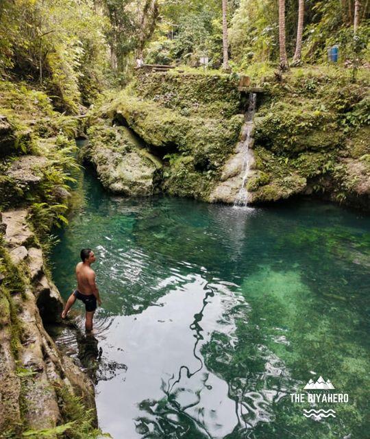The Biyahero posing in front of Cancalanog Falls