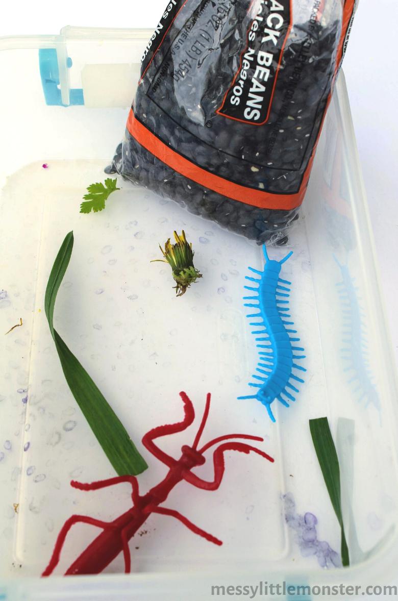 How to set up a bug sensory bin