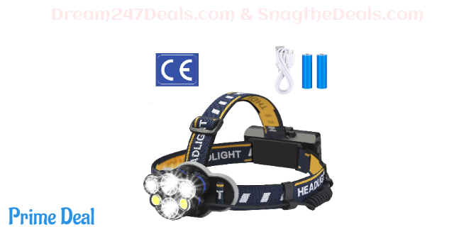 Rechargeable headlamp 40% OFF