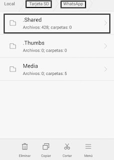 para que sirve la carpeta shared whatsapp