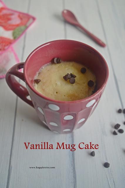 Vanilla Mug Cake Recipe| Eggless Microwave Vanilla Cake