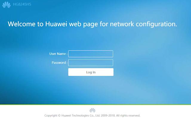 Password Terbaru Modem Huawei HG8245H5 Indihome