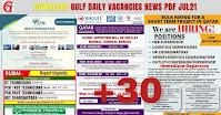 Gulf daily Vacancies News Classifieds PDF Jul21