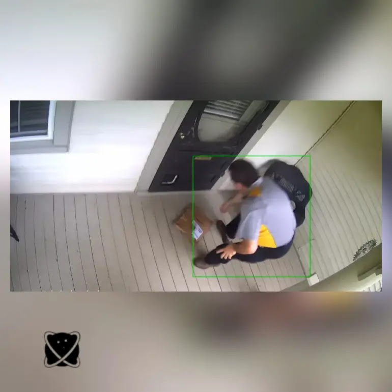 A man uses machine learning AI, flour, and very loud sirens to fight against package thieves