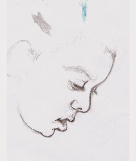 Profile Sketch of Damiano, pencil on paper, 2014