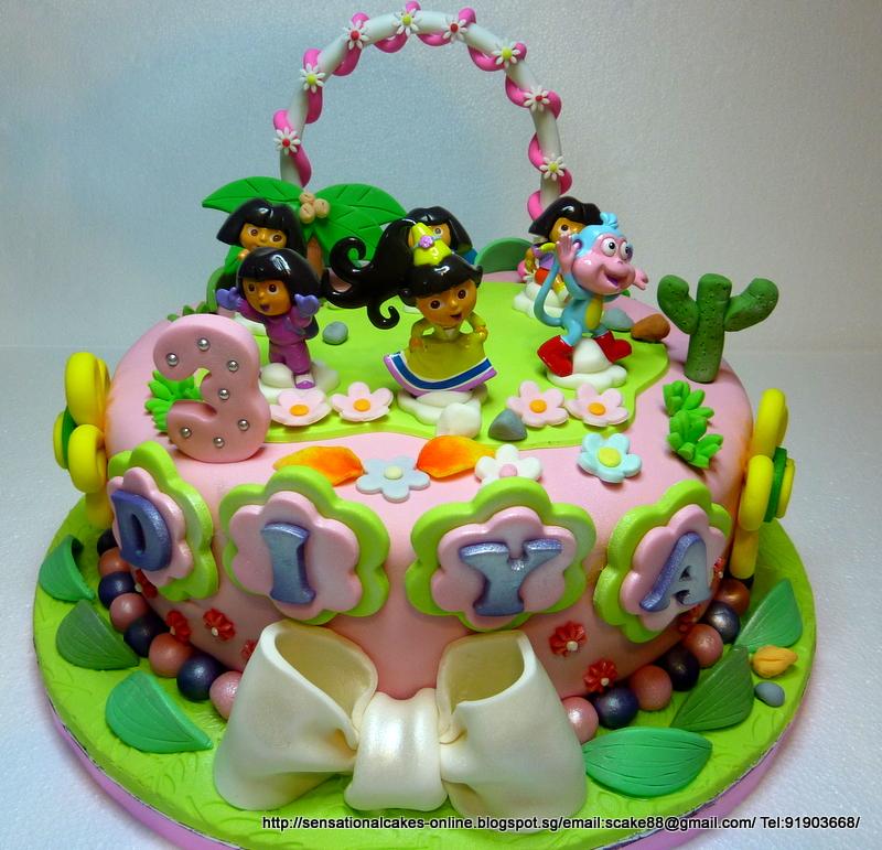 The Sensational Cakes Dora The Explorer Cake Singapore