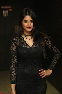 Actress Monica in spicy transparent Black Top at O Pilla Nee Valla Movie Audio Launch Feb 2017 130.JPG