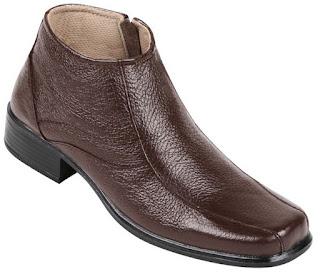 Jual sepatu boots wanita murah meriah ZO6507 bahan kulit warna hitam ukuran 37 sd 42