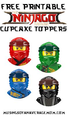 free Ninjago cupcake toppers