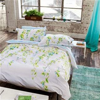 Willow Acacia de Designers Guild. Fundan nórdica y juego de sábanas