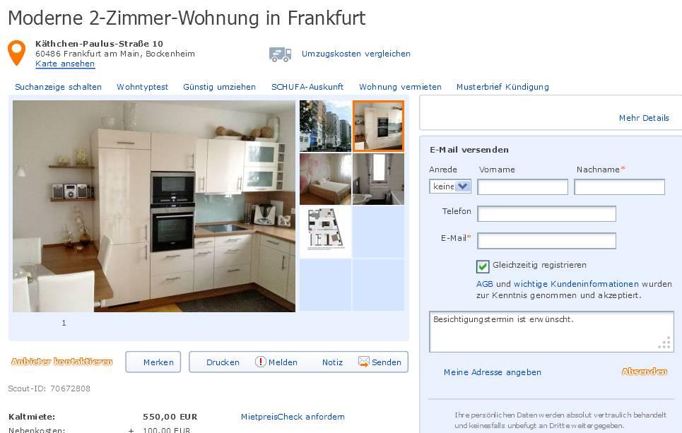Marayurgen At Yahoode Moderne 2 Zimmer Wohnung In Frankfurt Käthchen