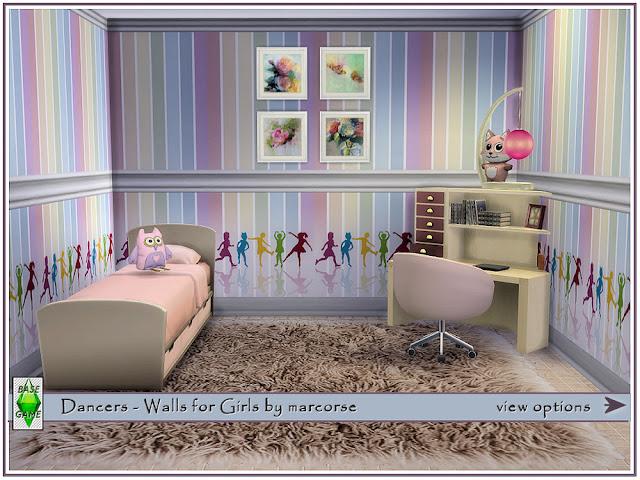 Стены с детским рисунком для Sims 4 со ссылками на скачивание