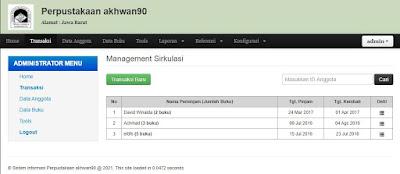 Admin - Source Code Aplikasi Perpustakaan akhwan90 Berbasis Web