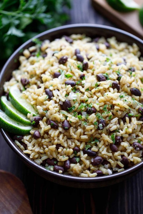 5 Minute Easy Rice and Beans