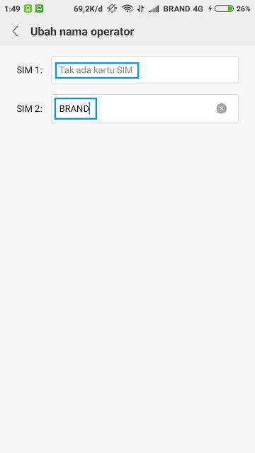 Cara Mengubah Nama Operator di Android Tanpa Root Terbaru