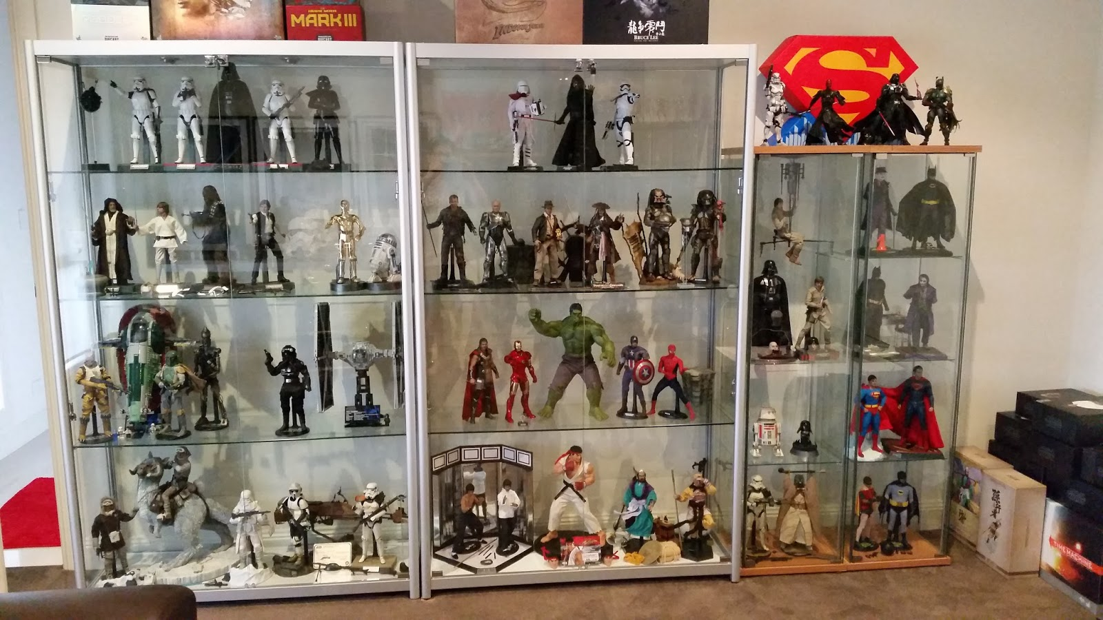 For The Low Wide Cabinet That I Had From A Couple Of Years Ago, I Reserved  Room For The New Hot Toys Delorean. I Never Got The Hot Toys Batmobile  Which Is ...