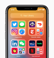 Screenshot of App Library on iOS 14