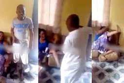 Nigerian Man Flogs His Sister For Cheating On Her Husband (Watch Video)