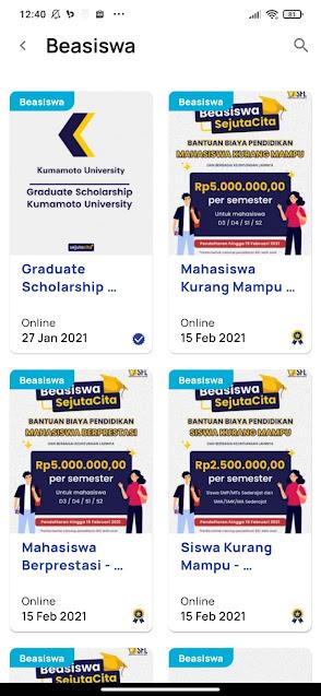 Cara Daftar Beasiswa