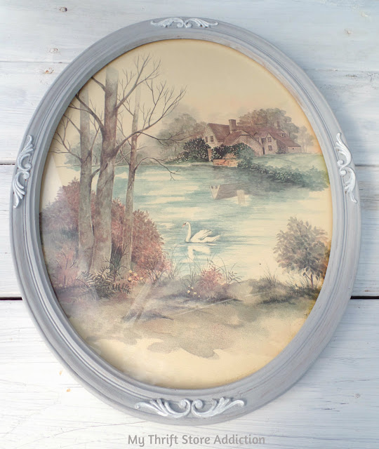 15 minute thrift store art upcycle