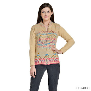 Women's Woolen Blend Embroidery Sweaters