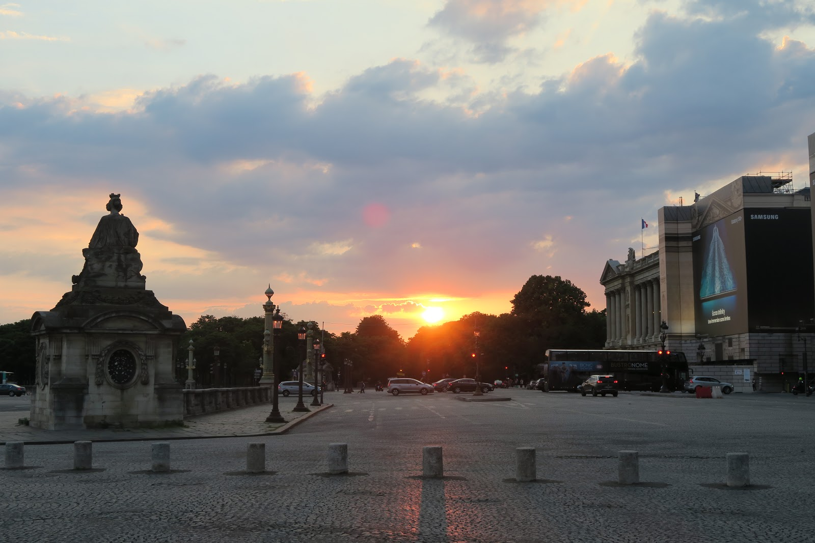 Sunset in Paris from our trip