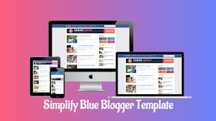 Simplify Blue Premium Blogger Template - Responsive Blogger Template