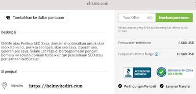 Situs Chkme sudah dihapus