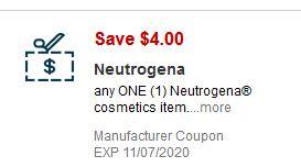$4.00 Neutrogena Face CVS App Coupon.