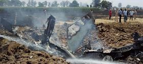 IAF Plane Crash: पंजाब के नवाशहर में वायुसेना का एक प्लेन क्रैश ,पायलट की हालत गंभीर