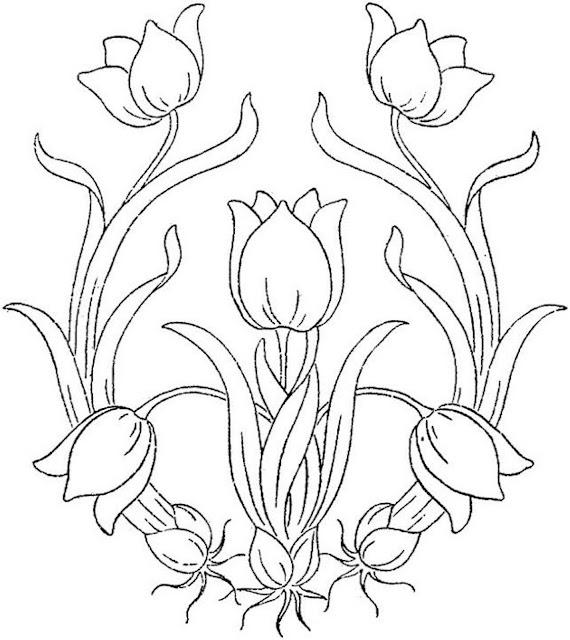 coloriages fleurs de printemps
