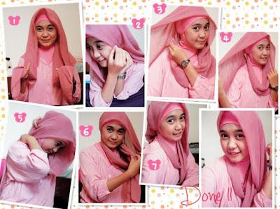 cara menggunakan hijab segi empat