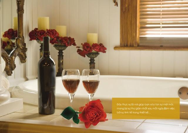 Thiết kế phòng tắm của chung cư The Golden An Khánh