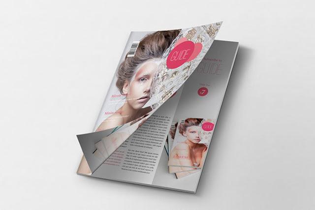 Magazine Mockup Cover PSD