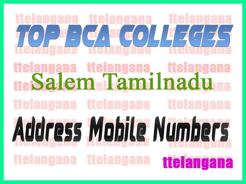 Top BCA Colleges in Salem Tamilnadu