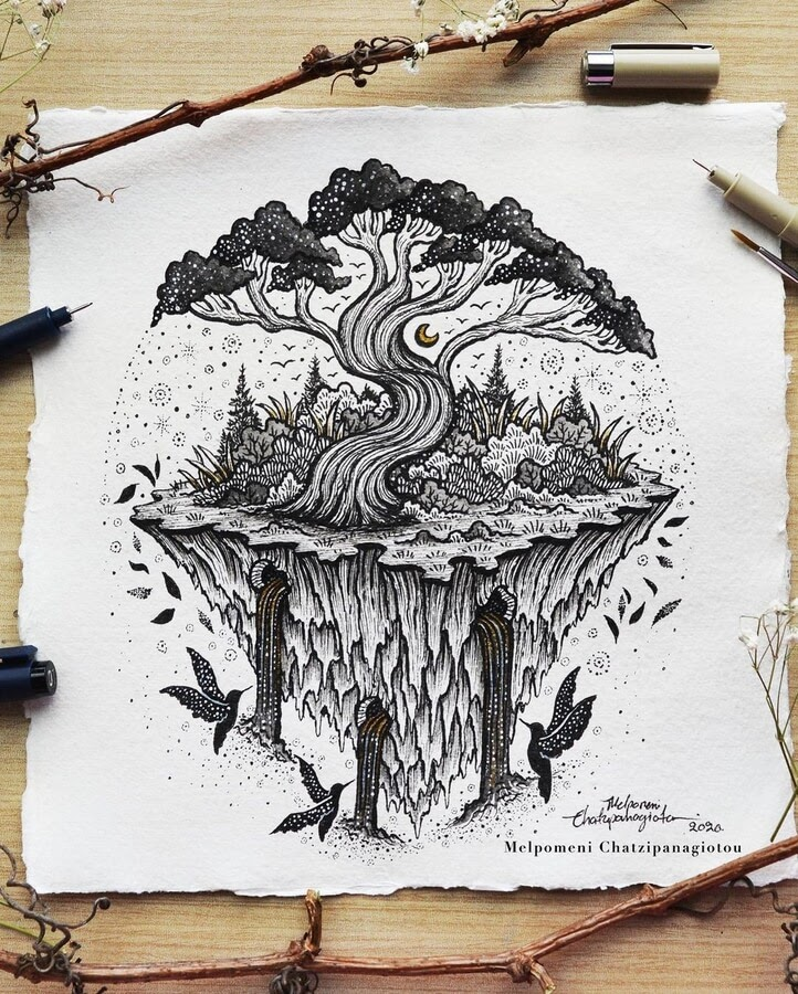 11-Tree island and waterfalls-Melpomeni-Chatzipanagiotou-www-designstack-co