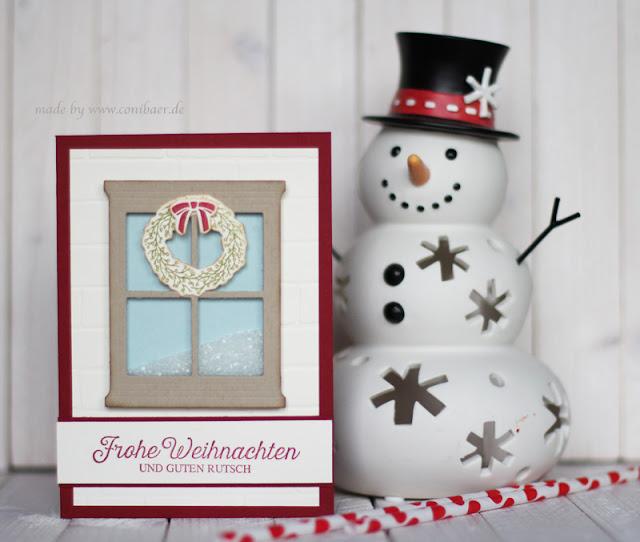 eine weihnachtliche sch ttelkarte conibaers creative. Black Bedroom Furniture Sets. Home Design Ideas