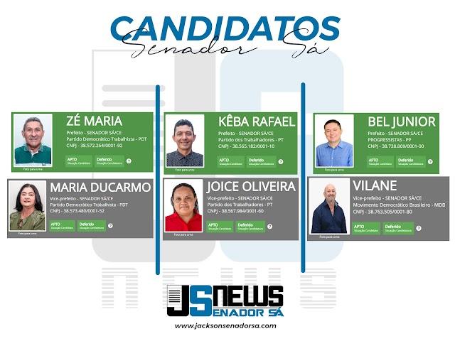 Candidatos a prefeito de Senador Sá tem suas candidaturas deferidas e estão oficialmente aptos a concorrer nas eleições.