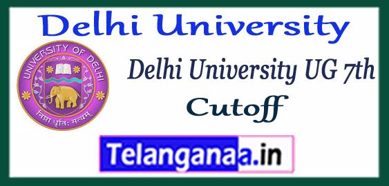 DU Delhi University 7th Cutoff List College Wise 2017-18