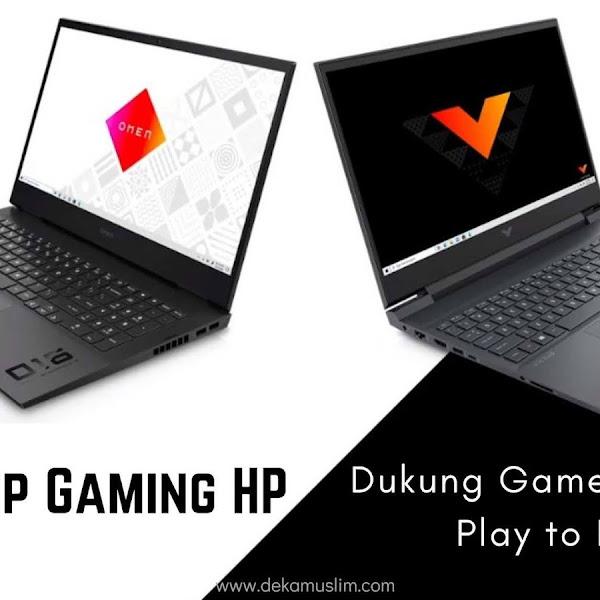 Laptop Gaming HP Dukung Gamers untuk Play to Progress