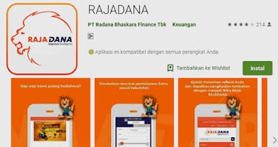 untuk cek sisa angsuran, cek status pengajuan kredit, jumlah denda dan nomor kontrak radana finance