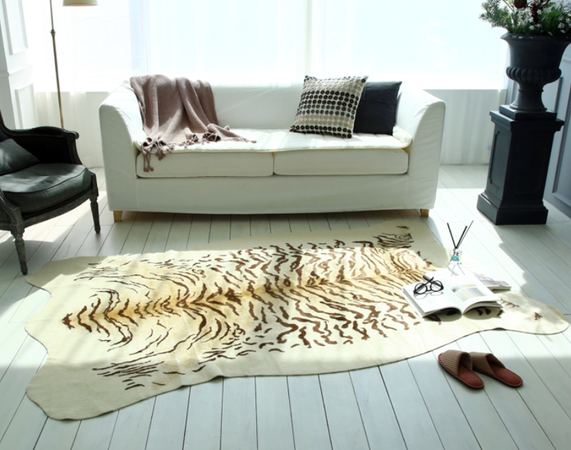 Living with a tiger from city home Decor Tiger Skin Rug
