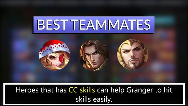 Mobile Legends Granger Best Team-Mates