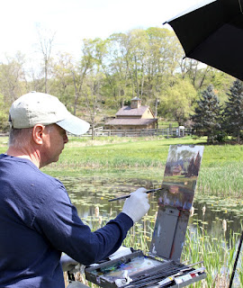 Tony D'Amico paints a beautiful scene in Roxbury CT.