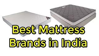 Best Mattress Brands in India 2020.