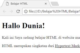 Cara Membuat Huruf Garis Bawah (underline) Dalam HTML Dengan Tag u dan Tag ins