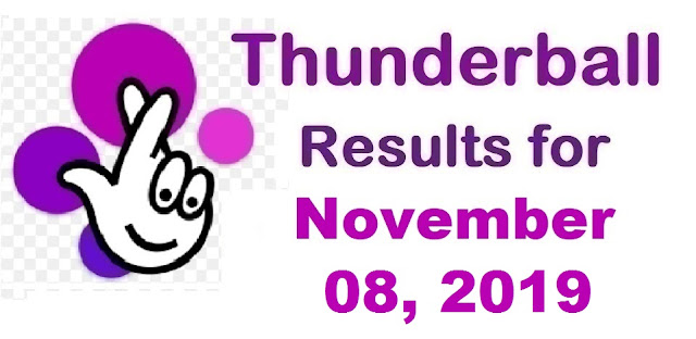 Thunderball Results for Friday, November 08, 2019