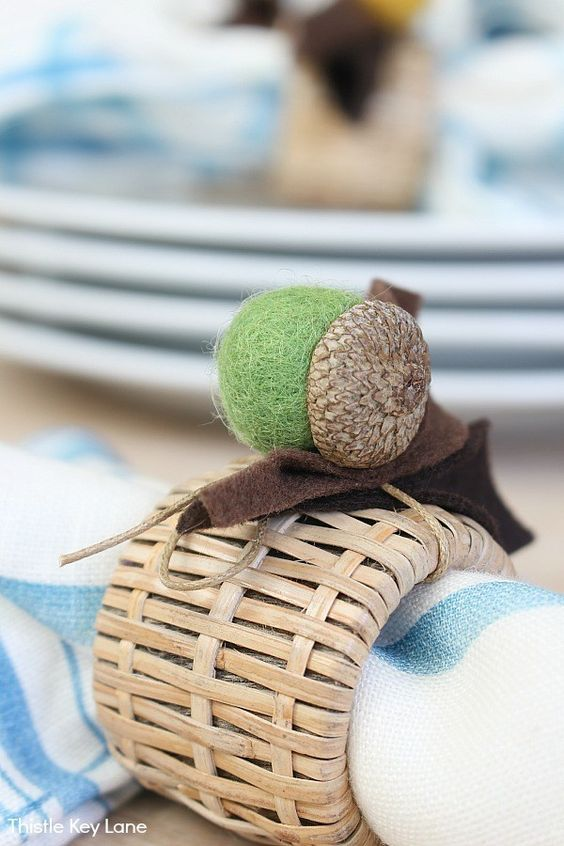 DIY napkin rings fall